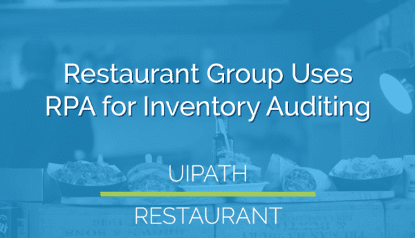 rpa for inventory auditing